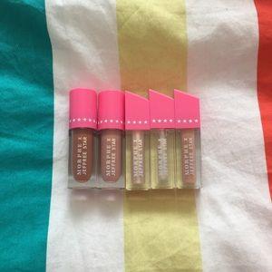 Jeffree star mini liquid lipsticks and lipgloss